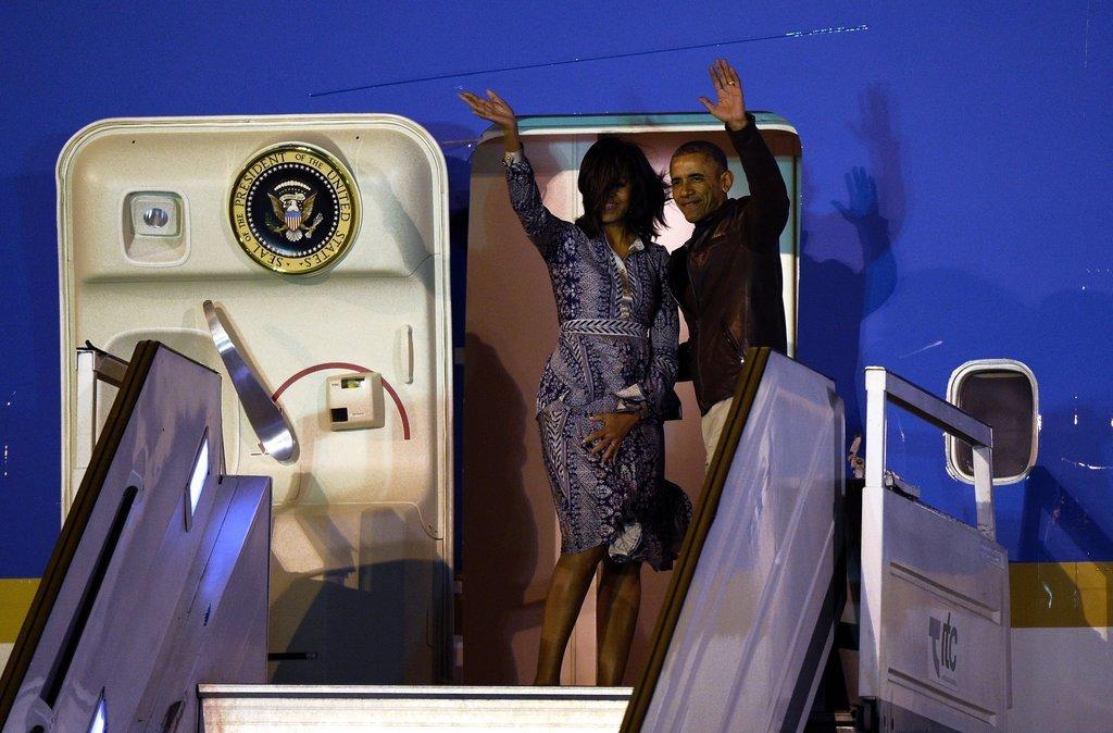 Michelle Wearing Her Fall '16 Tory Burch Dress