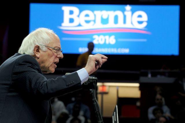 Bernie Sanders at a rally in New Brunswick, N.J. (Photo: Dennis Van Tine/STAR MAX/IPx)
